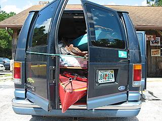 Van and Kayaks