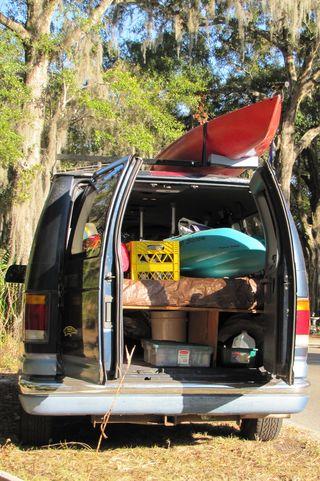 Kayaks loaded